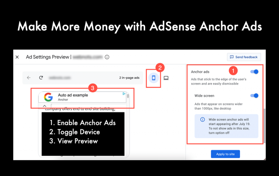 Make More Money with AdSense Anchor Ads