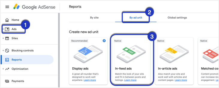 Native In-feed Ad in AdSense