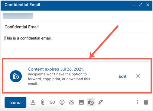 Send Confidential Email