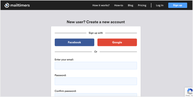 Signup for an Account