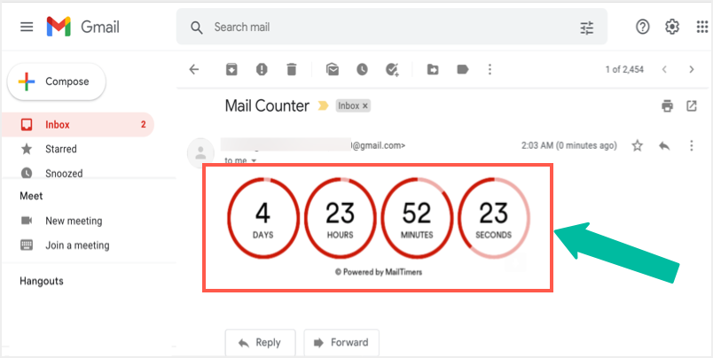 View Timer in Email