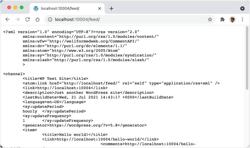 WordPress Feed XML Example