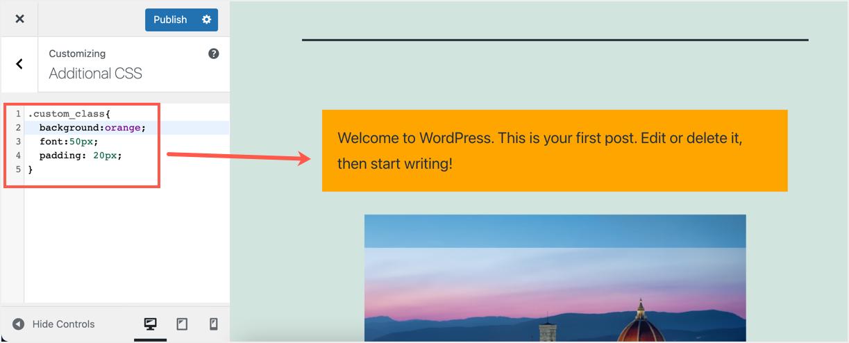Add Custom CSS to HTML