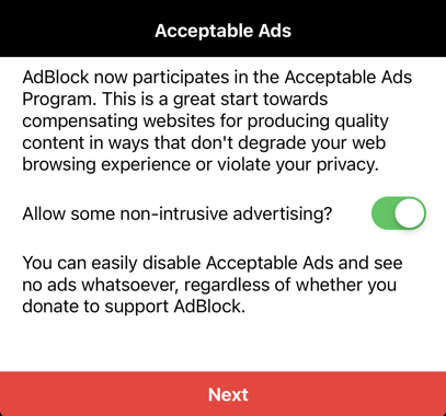 Allow or Block Acceptable Ads