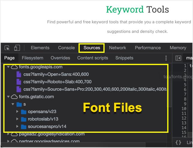 CSS Font Files