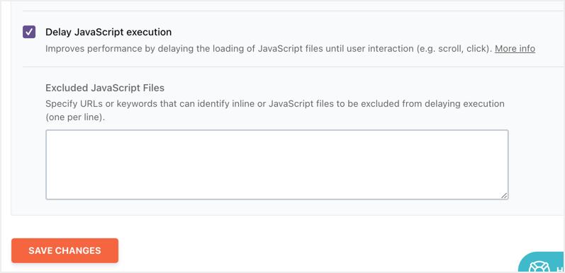 Delay JavaScript Execution in WP Rocket