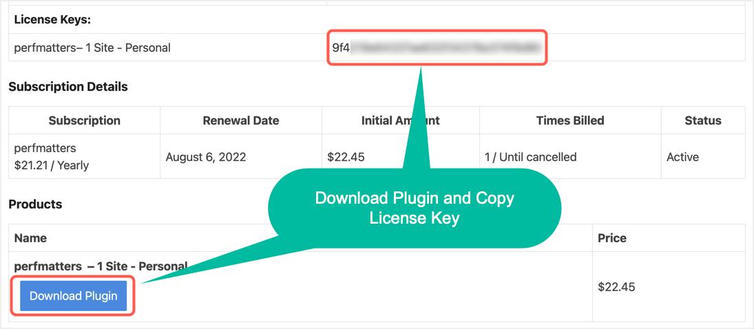Download Plugin and Copy License Key