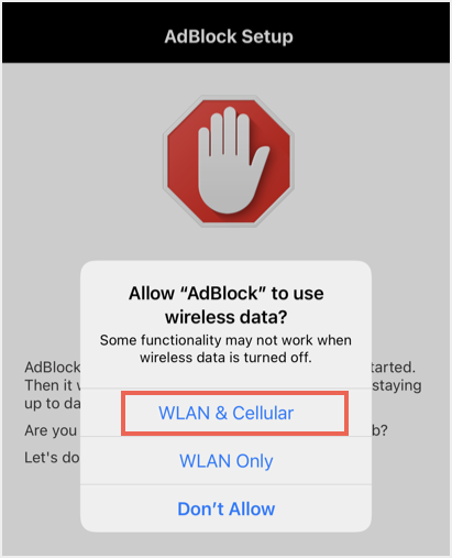 Enable WLAN and Cellular