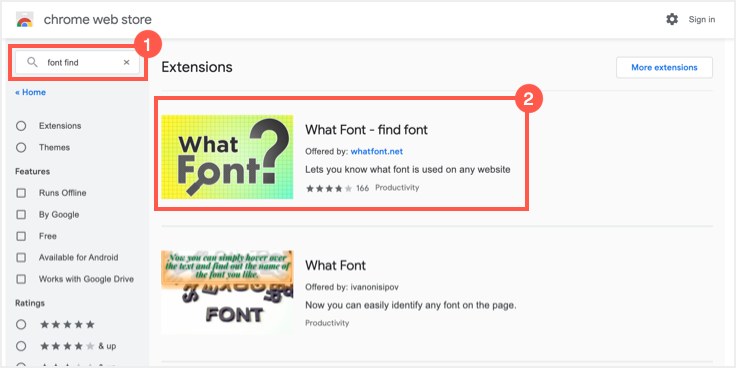 Find What Font Chrome Extension