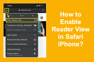 How to Enable Reader View in Safari iPhone?