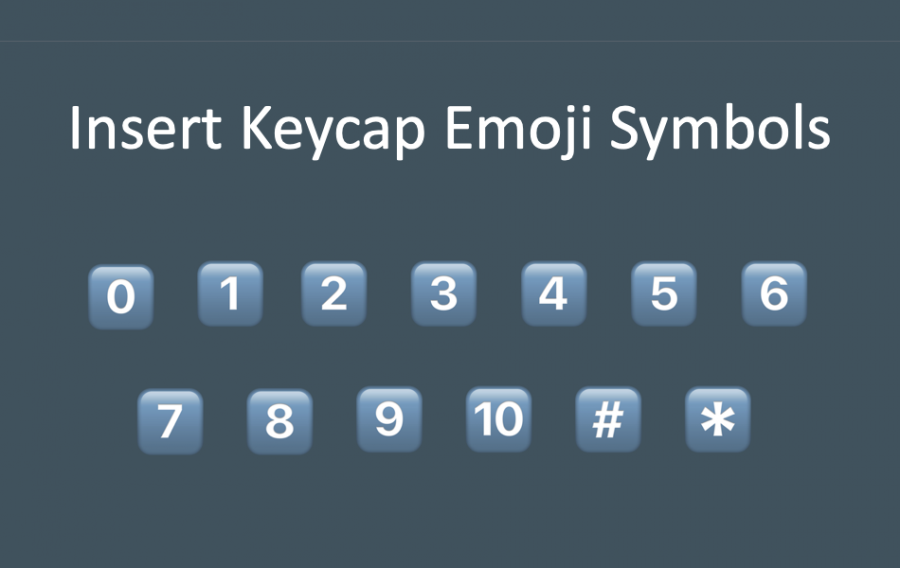 Insert Keycap Emoji Symbols