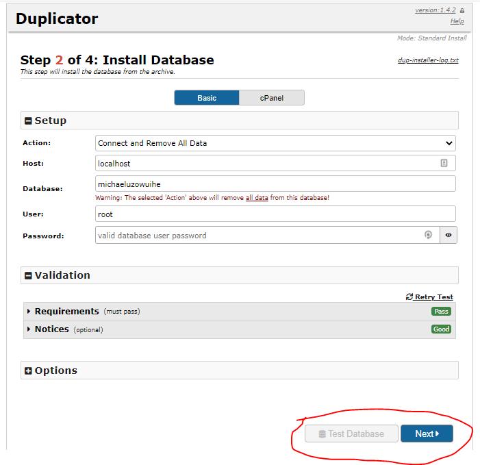 Install Database
