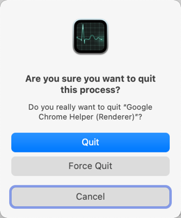Quit Chrome Services in Mac