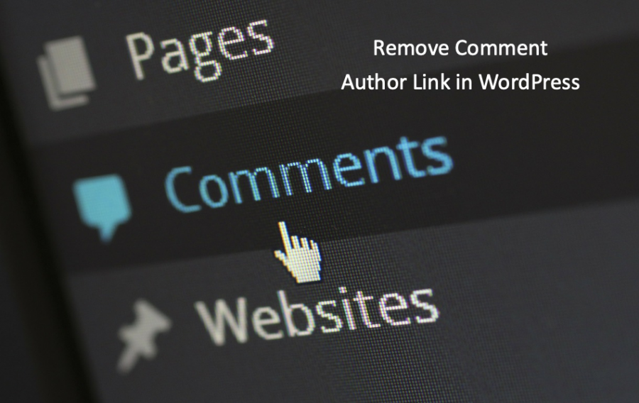 Remove Comment Author Link in WordPress