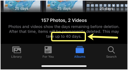 Retaining Days for Deleted Items