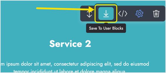 Save to User Blocks