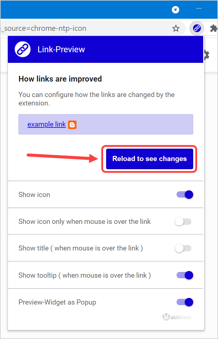 Setup Link Preview Extension