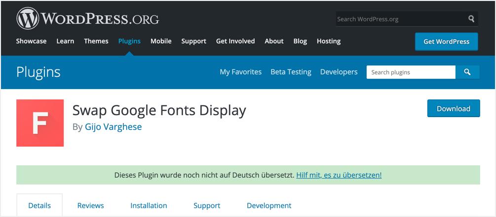 Swap Google Fonts Display