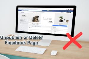 Unpublish or Delete Facebook Page