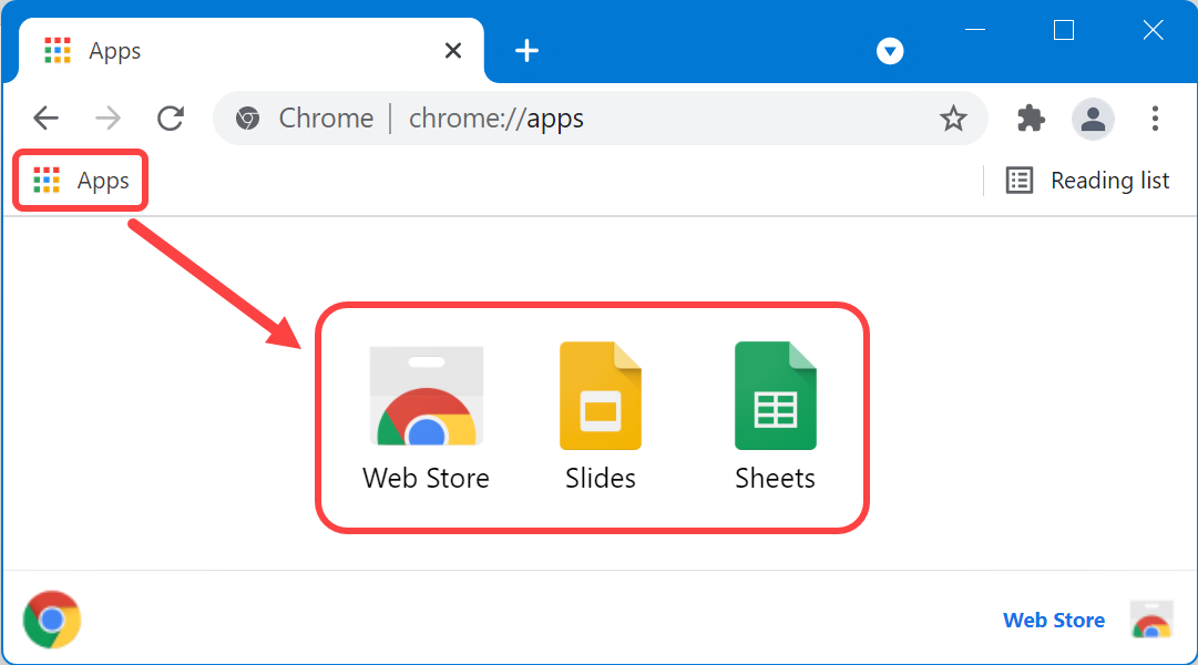 View Chrome Apps