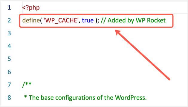 WP Config Entry By WP Rocket