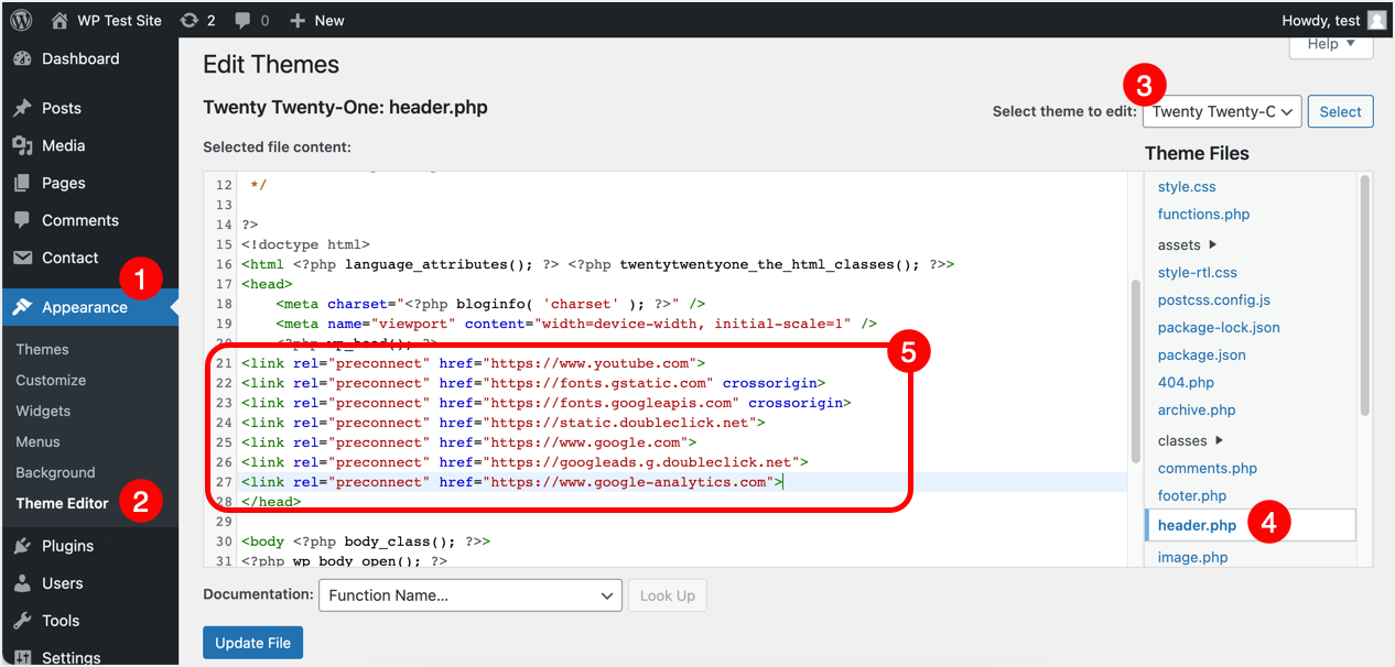 Add Preconnect Meta Tags in Header