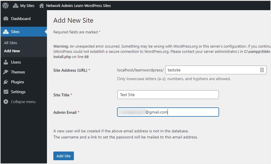 Add Single Site to Multisite Network