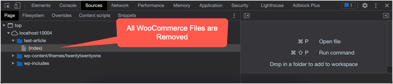All WooCommerce Files are Removed