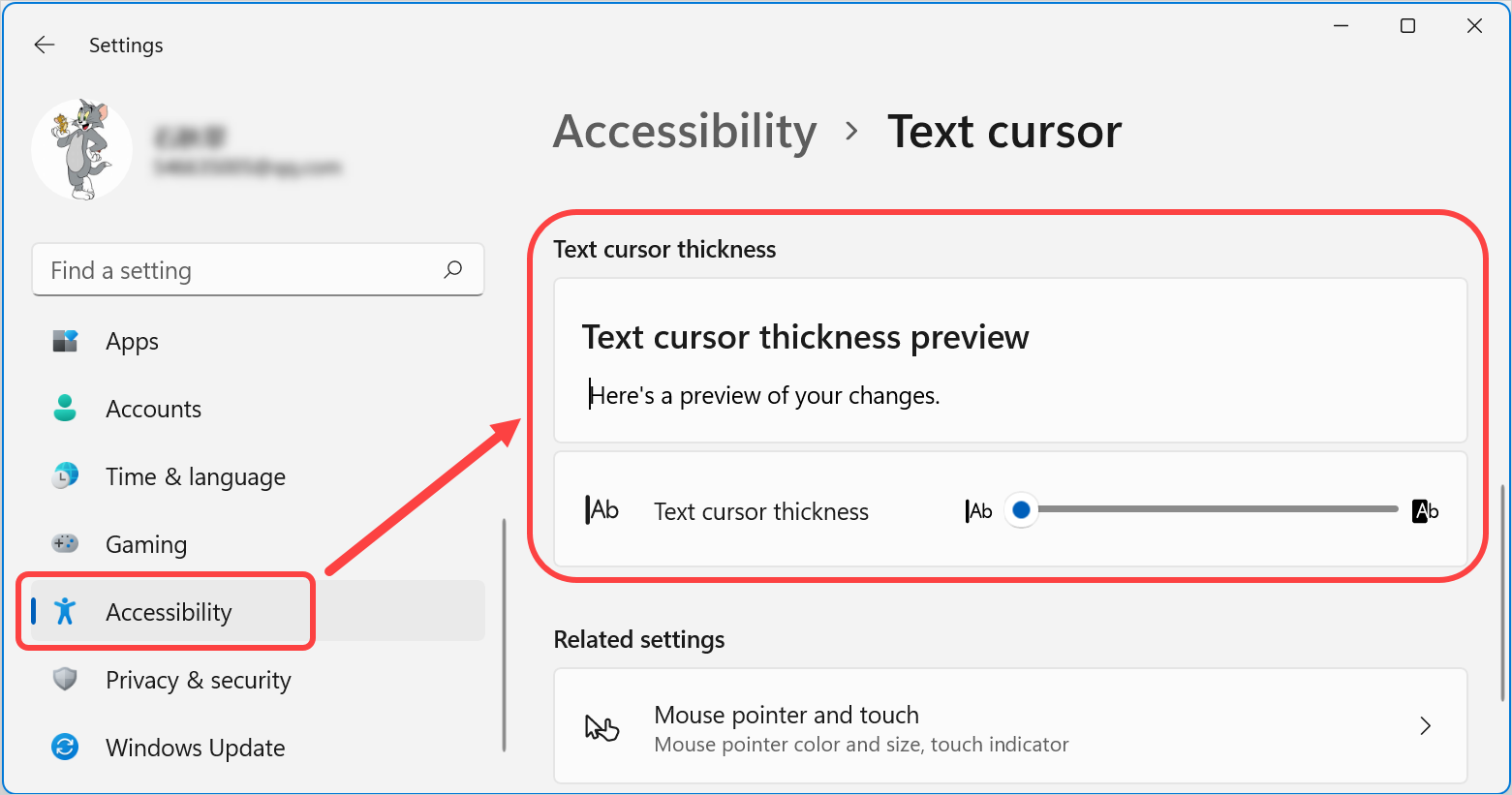 Change Thickness of Text Cursor
