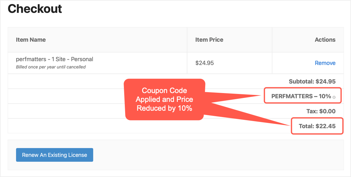 Check Coupon Code in Checkout