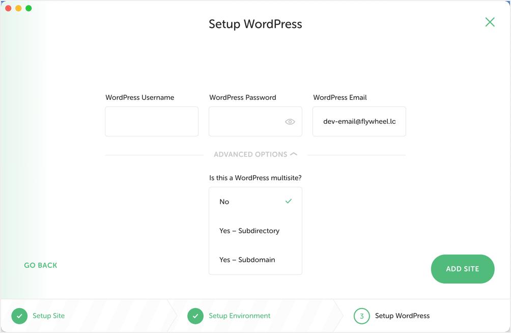 Create Multisite with Local App