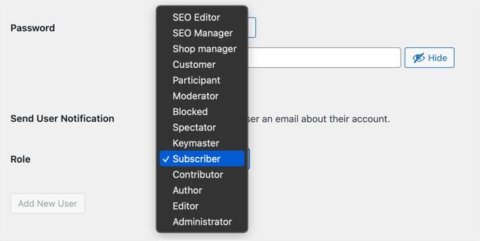 Custom User Roles in WordPress
