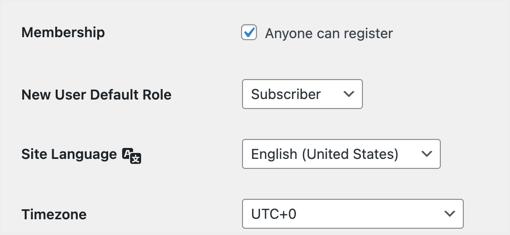 Enable Registration in WordPress