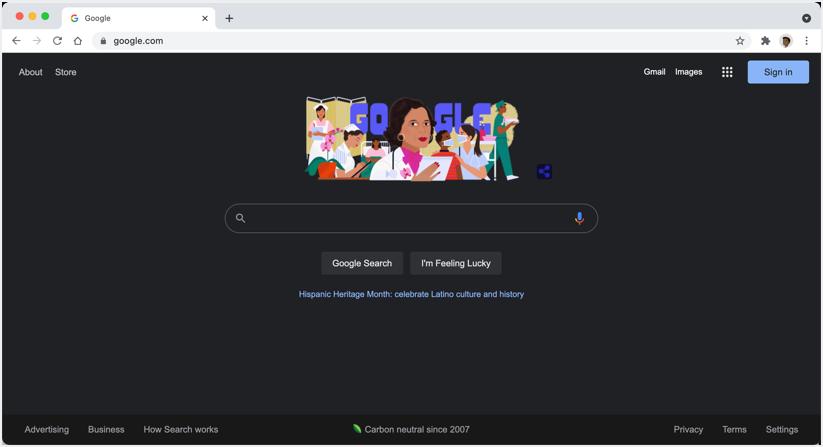 Google Search Dark Mode in Chrome