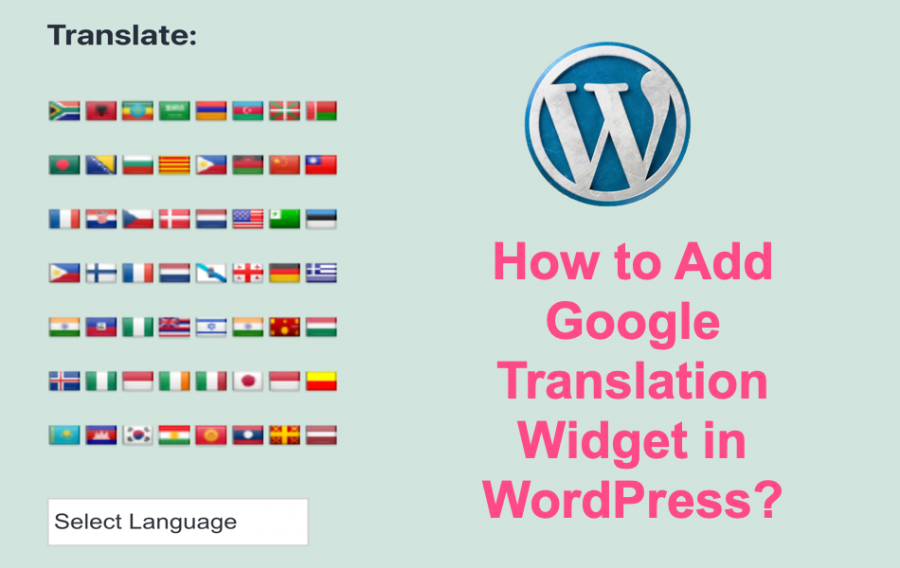 How to Add Google Translation Widget in WordPress??