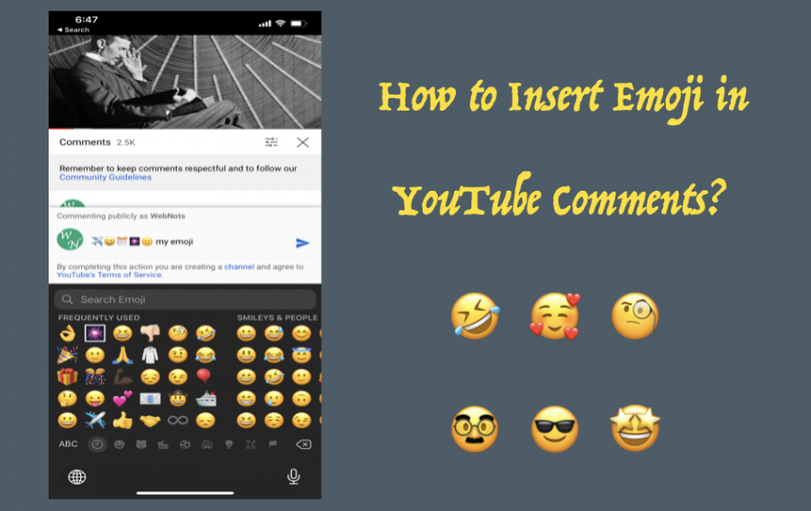 How to Insert Emoji in YouTube Comments?