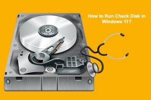 How to Run Check Disk in Windows 11?