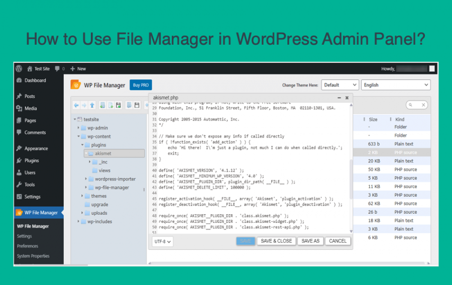 How to Use File Manager in WordPress Admin Panel?