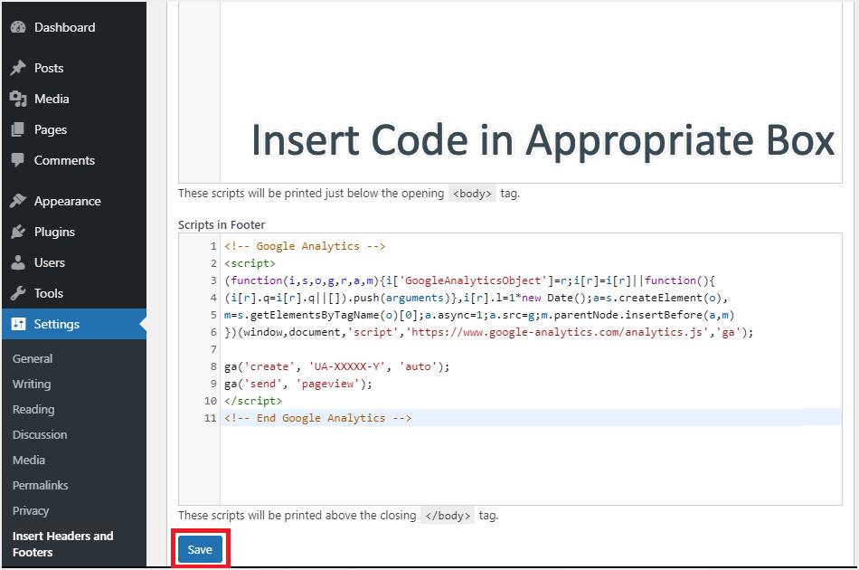 Insert Code with Plugin