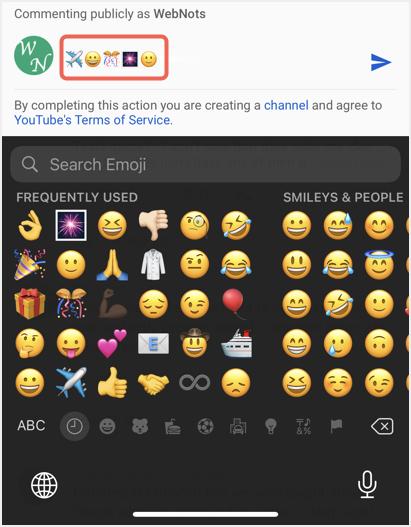 Insert Emoji in iPhone Keyboard