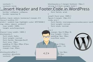 Insert Header and Footer Code in WordPress