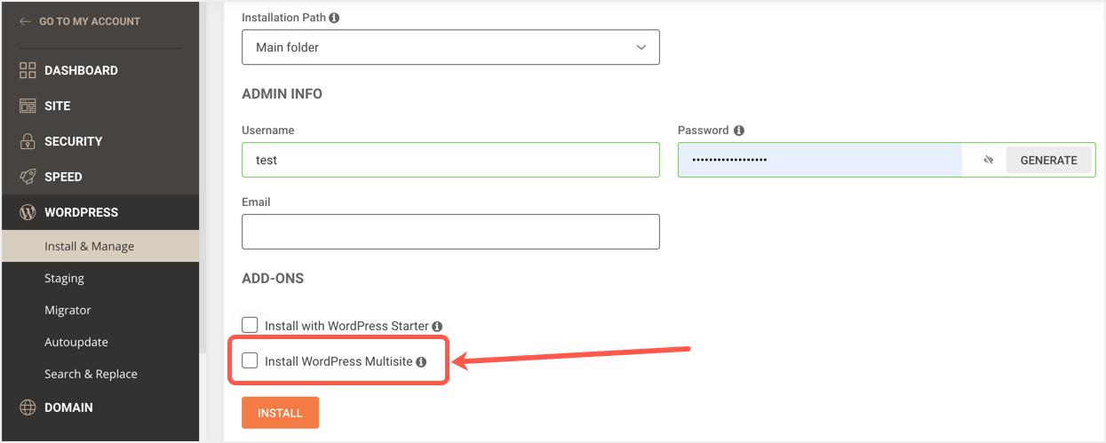 Install Multisite in WordPress