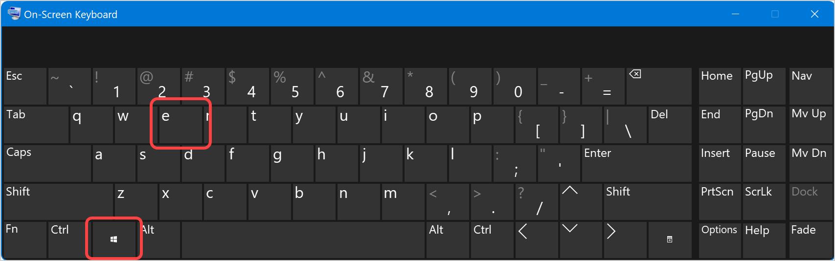 Keyboard Shortcut to Open File Explorer
