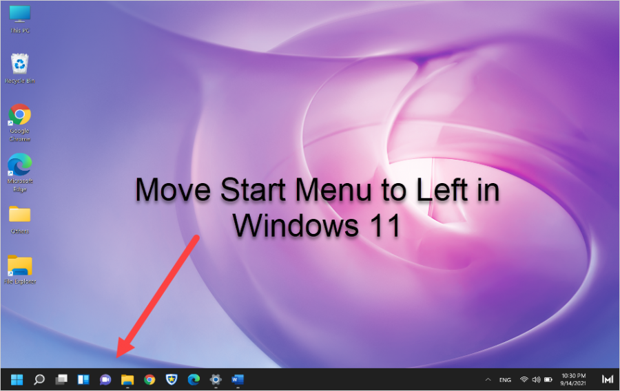Move Start Menu to Left in Windows 11