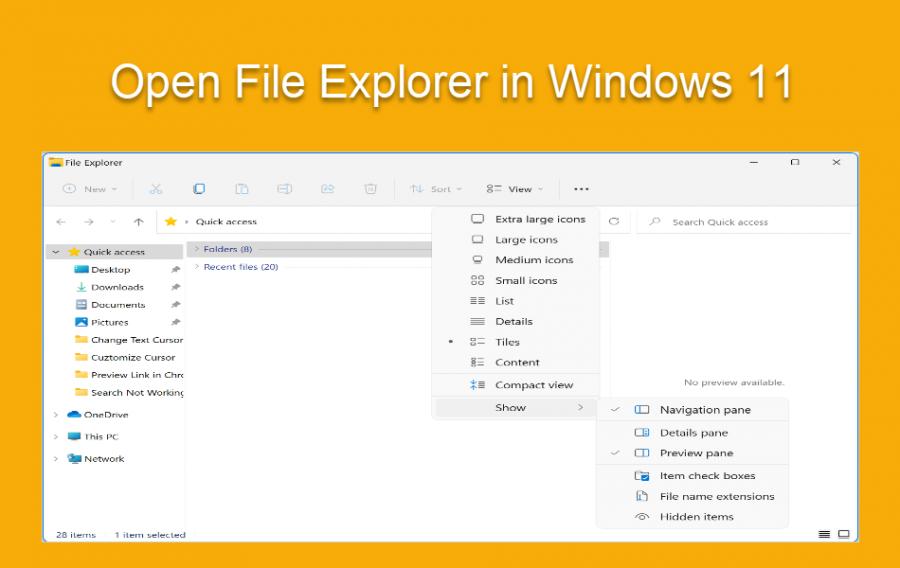 Open File Explorer in Windows 11