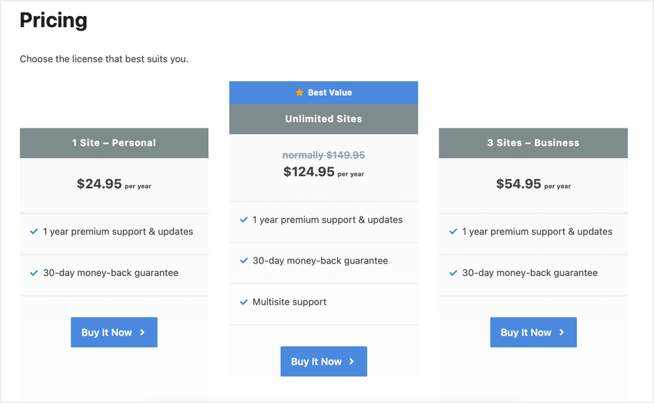 Perfmatters Pricing Plans