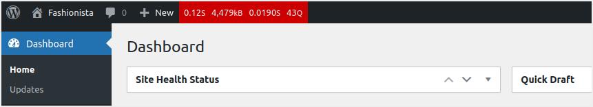 Query Monitor Top Bar