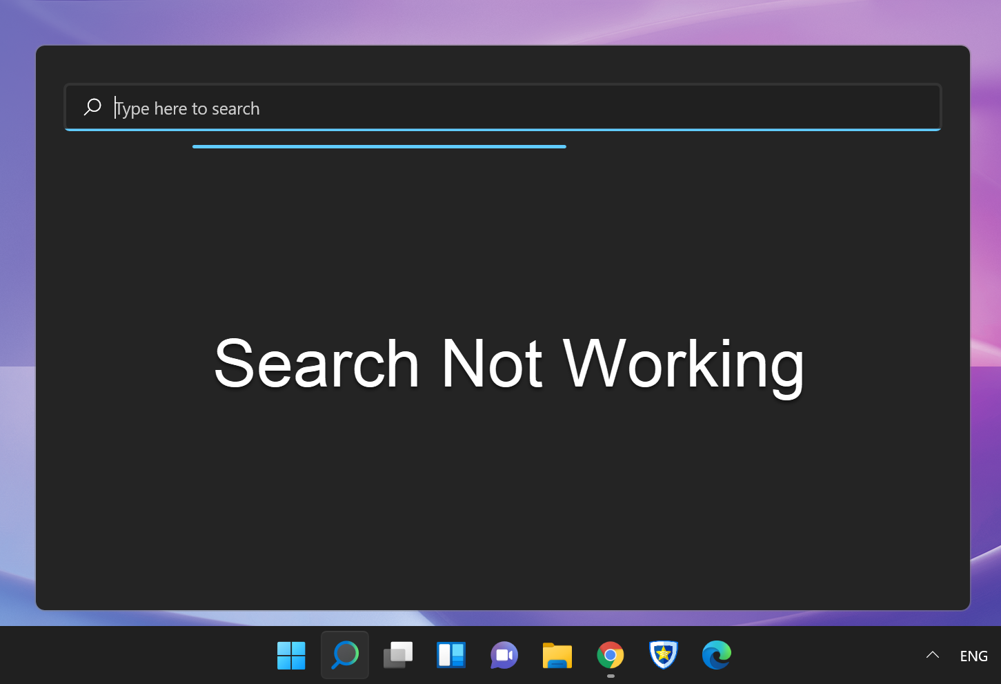 Search Running without Any Results
