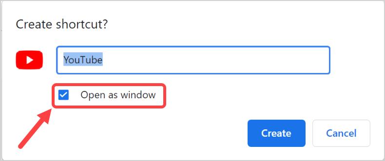 Select Open as Window