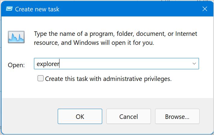 Type Program Name for Task